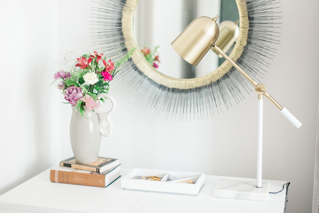 How to Style a Refurbished Console Table