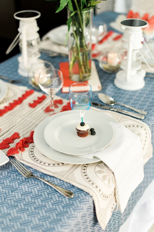 Red, White, and Blue Table Decorations